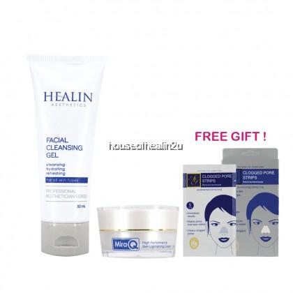 Healin Aesthetics Cleanser & Mira Q Night Cream